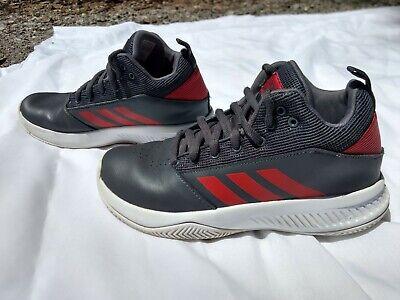 ADIDAS - Boy's Cloudfoam Ilation 2.0 Mid Basketball Shoes (Gray/red) size 6 | eBay