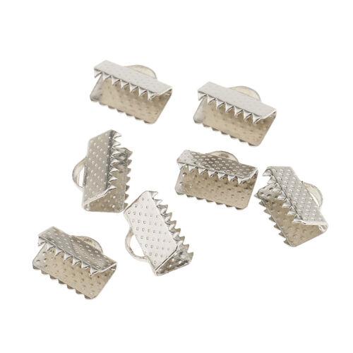 100x Ribbon Pinch Crimp Cord Ends Bandverschluss Für Schmuck Finden