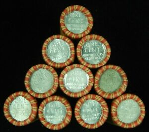 1x-Roll-Wheat-Cents-1943-Steel-Cent-on-End-Pennies-Penny-Old-US-Coins-Lot