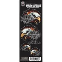 Harley-Davidson Eagle Logo Flames Decal Set free shipping