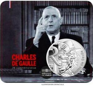FRANCE-CARTELETTE-10-EURO-2020-ARGENT-Charles-de-Gaulle-1890-1970-COINCARD