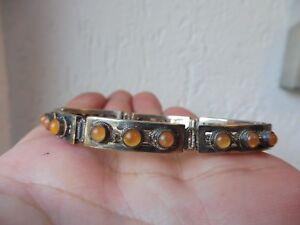 schones-altes-Armband-Bernstein-Perlen-800-Silber