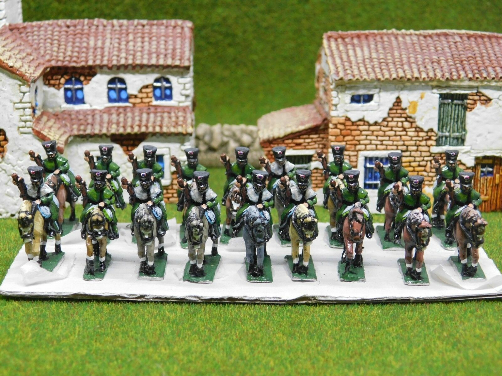 15mm Napoleonic BRITISH LIGHT CAVALRY x18 Well Painted 57268