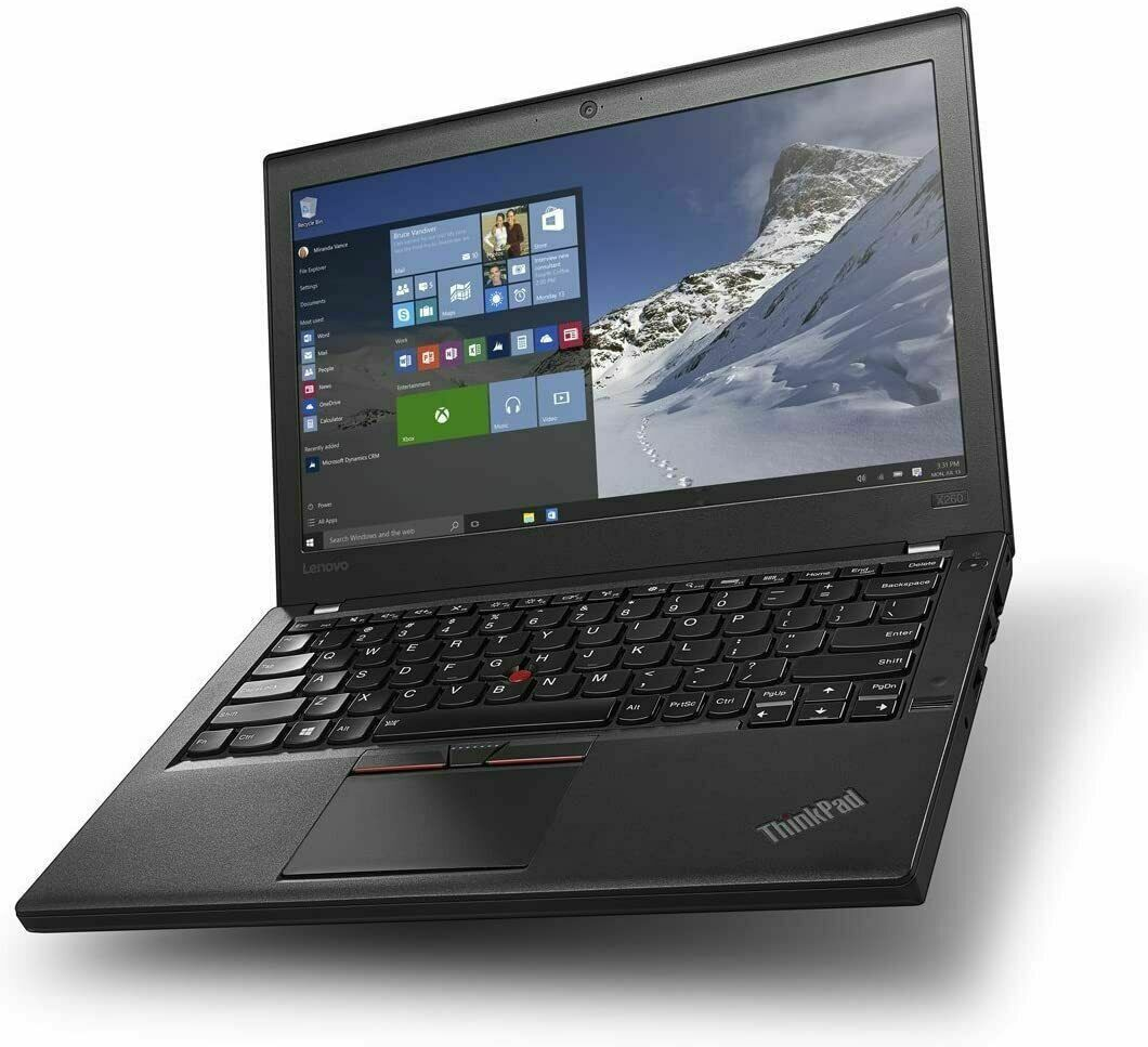 "Lenovo ThinkPad X260 Laptop i7-6600u @ 2.60GHz 16GB 256GB SSD WIN 10 PRO 12.5"""