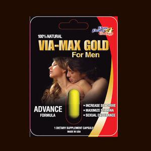 VIA-MAX-GOLD-HERBAL-Enhancer-Supplement-10-Pills-USA-3000-series-Free-Shipping