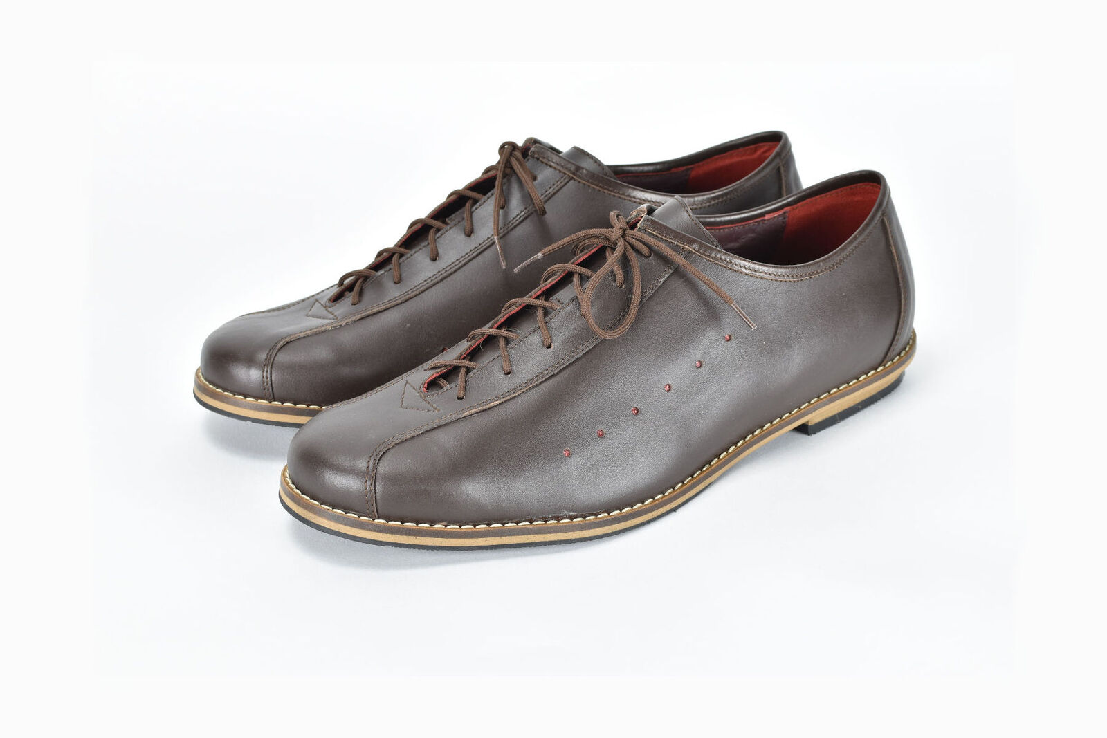 VV Classics vintage styled leather cycling shoes in brown - eroica