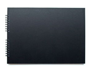 A4 Or A5 Black Scrapbook With 20 Black Pages Guest Book Photo