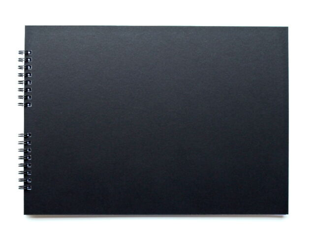 A4 or A5 Black scrapbook with 20 black pages / Guest Book / Photo Album
