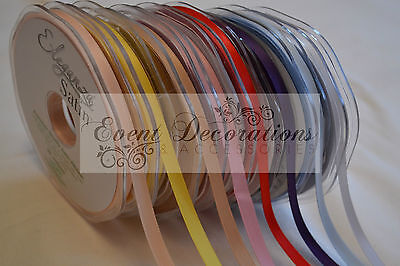 3MM ELEGANZA DOUBLE FACED SATIN RIBBON, 50M LONG, GREAT VALUE!