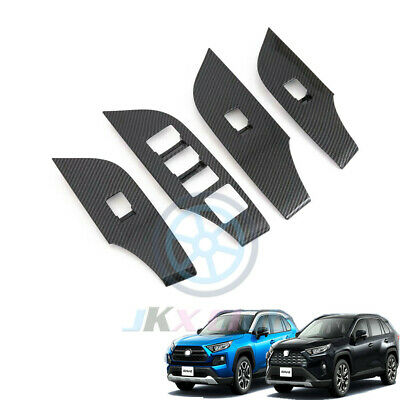 Details about  /For Toyota RAV4 2019-2021 Carbon Fiber Inner Air Condition CD Panel Cover Trim