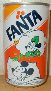 1987 FANTA DISNEY MICKEY MOUSE Can from AUSTRIA (33cl) (empty)