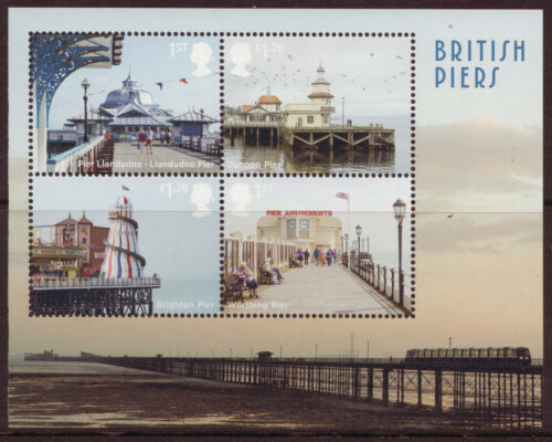GREAT BRITAIN 2014 BRITISH PIERS MINIATURE SHEET UNMOUNTED MINT, MNH