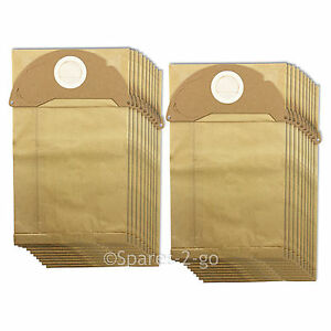 20 x filtered dust bags double walled for karcher mv2 ipx4. Black Bedroom Furniture Sets. Home Design Ideas