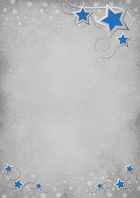 Weihnachtsterne Gold Stars Set Motivpapier Briefpapier 20 Blatt A4 20 Kuverts