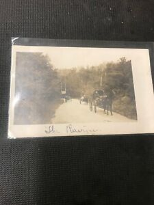 real-photo-postcard-Birtle-Manitoba-Private-Post-Card-Horses-And-Carriages-A1