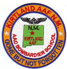 ARMY AIRFIELD PATCH, KIRTLAND AAF, NM, BOMBARDIER SCHOOL, GBNF,     Y