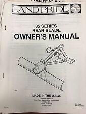 Land Pride Operators Manual 35 Series Rear Blades 301 132mused