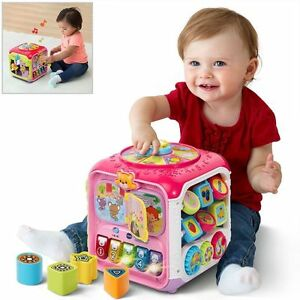 Developmental Learning Baby Toys Activity Cube Music Sound Animal Kids Play Fun