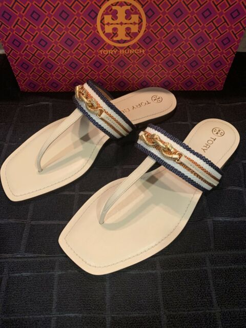 NEW TORY BURCH Size 9 JESSA THONG SANDAL Dulce De Leche /Tan Multi Retail 248.00