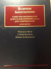 University Casebook: Business Associations, Cases and Materials on Agency, Partnerships, and Corporations by Stephen Bainbridge, William Klein and J. Ramseyer (2015, Hardcover, New Edition)