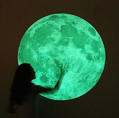 WALL Decor Home Moon Glow in the dark Point Decal Sticker 3D Art Mural 4 size