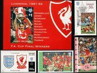 LIVERPOOL FC FA CUP Winners 1991-1992 Football Stamps (Ian Rush)