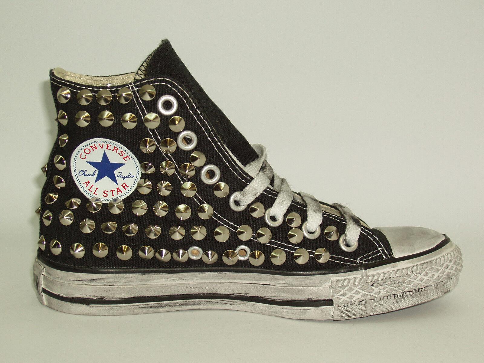 Converse all star Hi borch-ie scarpe donna uomo artigianali nero,grigio,rosso,blu