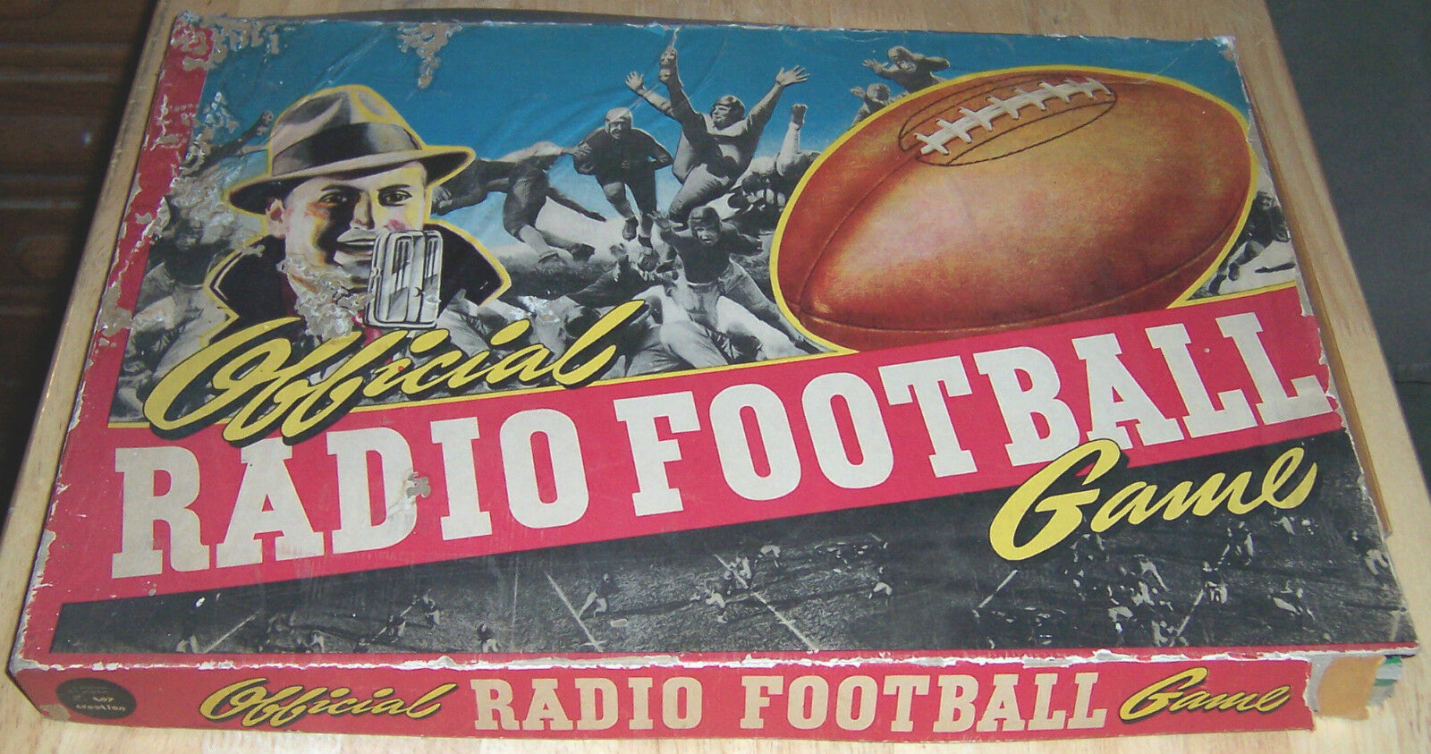 Official Radio Football Game  Board Game ; 1939 by Toy Creations, Inc.