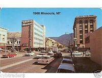 1960 Missoula, Mt Street Scene Postcard Refrigerator / Tool Box Magnet