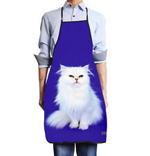 Personalized 3D Cute Cat BBQ Party Kitchen Cooking Bib Apron for Men Women Gift