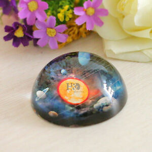 Crystal Paperweight Half Sphere Solar System Figurines