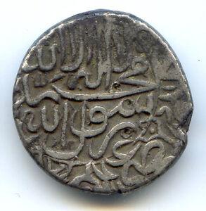 L-039-Inde-Moghol-Muhammad-Akbar-roupie-Type-80-Ah-967-Jaunpur-KM-80-10