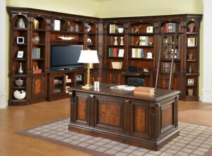Corsica Home Office Corner Library Wall