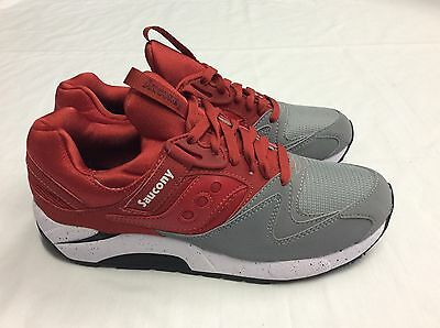 Saucony Shadow 9000 Trainers, Grey / Red