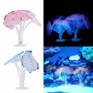 Home & Garden Provided 5 Colors Aquarium Glowing Artificial Coral Decoration Fish Tank Simulation Sea Anemone Ornament Eco-friendly Material Fish & Aquatic Supplies