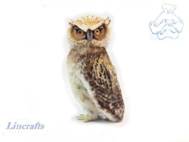 Small Fish Owl Plush Soft Toy Bird by Hansa. Sold by Lincrafts. 6767