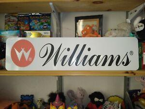 "Signo de Williams, 6"" X 24"" Williams Pinball Pantalla de aluminio!"