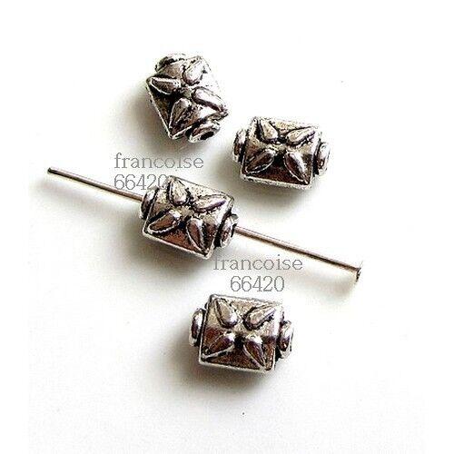 20 Intercalaires spacer Rectangle 9x6x3.5mm Perles apprêts création bijoux /_A229