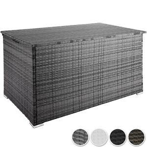 Outdoor Truhe.Details Zu Storage Box Cushion Pillow Garden Chest Bench Outdoor Rattan Aluminium 950 L New