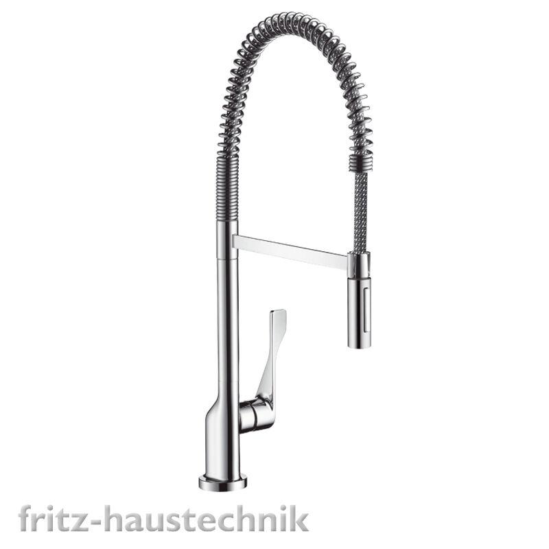 Hansgrohe Citterio Spültischmischer Semi Pro mit Brause Edelstahlfeder 3984000