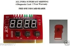 4 Digit Diagnostic Card MotherBoard Testing Card  PC Analyzer PCI Fault Debug +