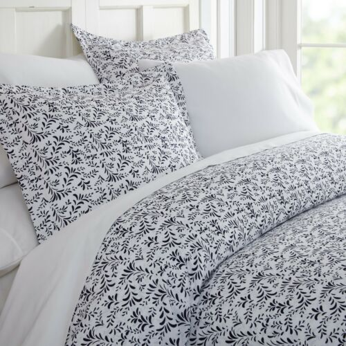 Hotel Collection Premium Luxury 3 Piece Burst of Vines Print Duvet Cover Set