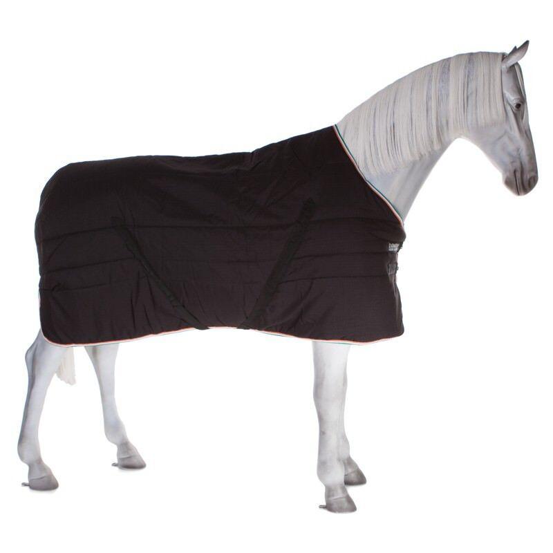Horseware Rambo stable Rug 400g-negro verde Irish enlace-stalldecke