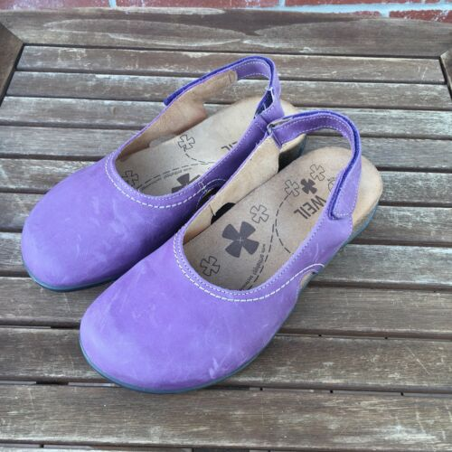 Chaussures Sz Weil Dr Slingback talons 7 Pourpre Orthaheel à Prune Lucia en cuir Andrew EqA8qg