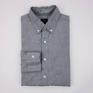 J-Crew-Small-Button-Up-Shirt-Mens-Size-Cotton-02402-Secret-Wash-Poplin-Heather-S