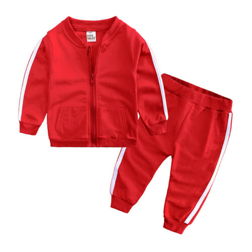 UK Kids Baby Boy Girl Hooded Sweater+Pants Toddler Outfits Set Clothes Tracksuit