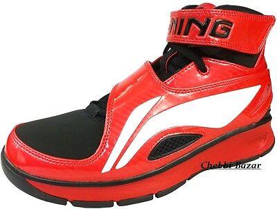LI-NING B573 Schuhe Basketballschuhe Herren Sportschuhe Rot Schwarz Neu