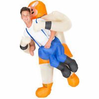 Inflatable Mexican Wrestler Costume Adult Fancy Dress Hen Stag Outfit