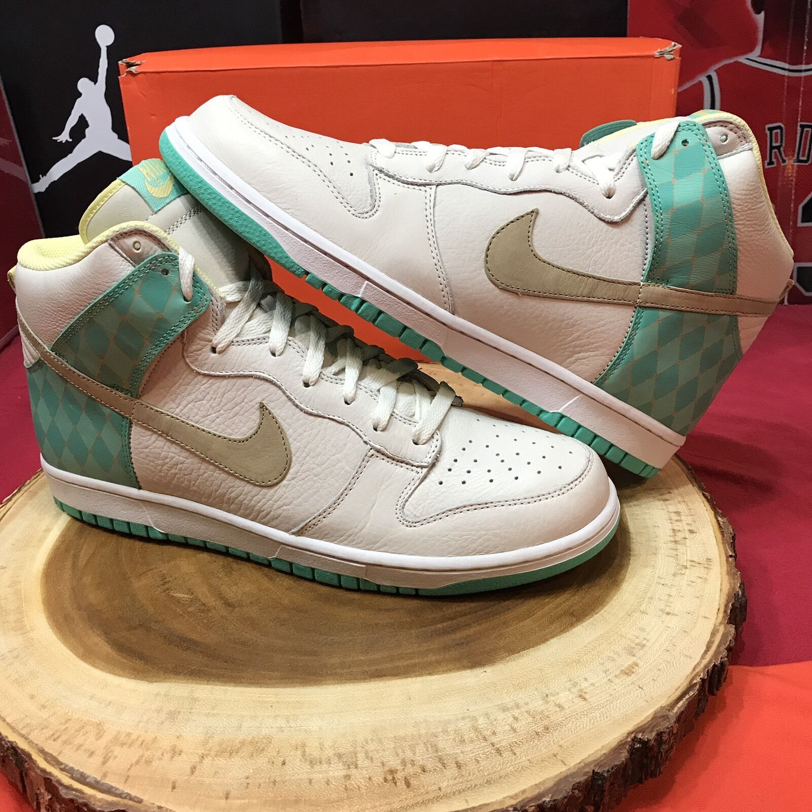 Nike Dunk High Premium Sail/Tweed-Azure 312786-121 Comfortable New shoes for men and women, limited time discount