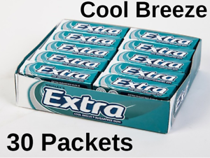 30-Packets-Wrigleys-Extra-Chewing-Gum-Cool-Breeze-Sugar-Free-11-49-FREE-POST